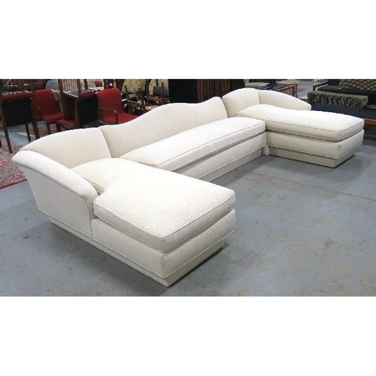 Ivory Cotton Sectional Couch-2