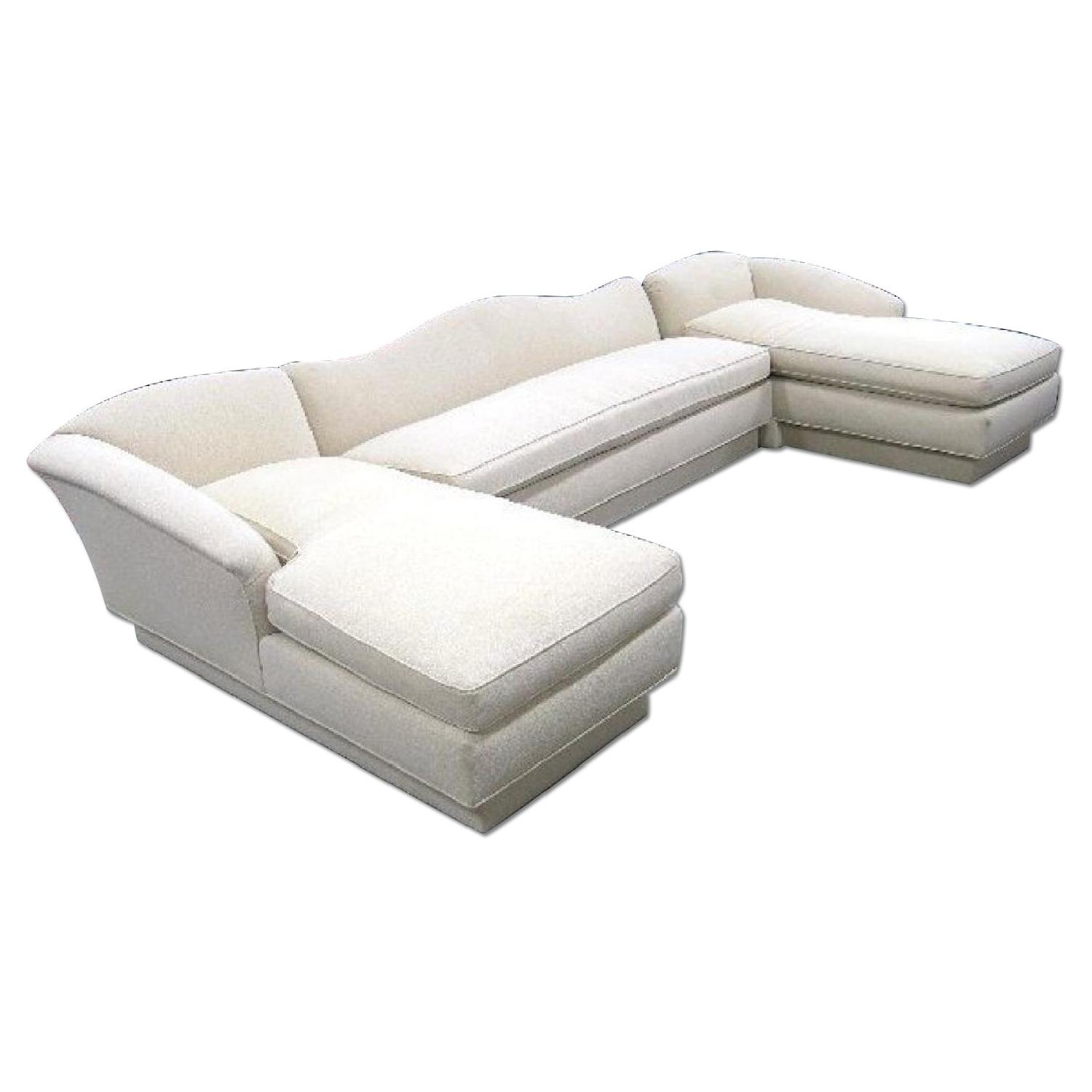 Ivory Cotton Sectional Couch