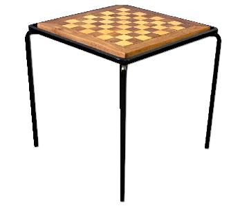 Handmade Chess Checkers Parquetry Inlaid Game End Side
