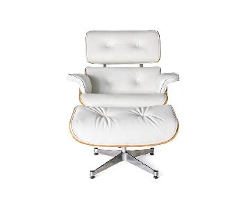 Eames Lounge Chair Replica in White