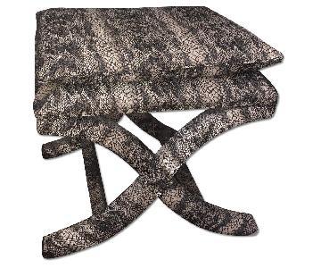 Home Goods Gray Snakeskin Vanity Stool/Bench