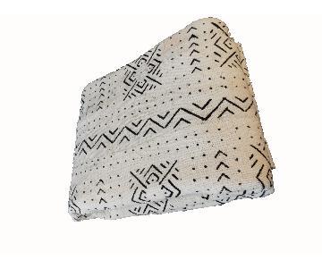 Mali African Large Black & White Mud Cloth Textile