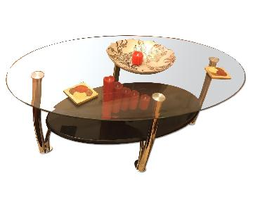 Ashley's Signature Design Coffee Table + 2 End Tables