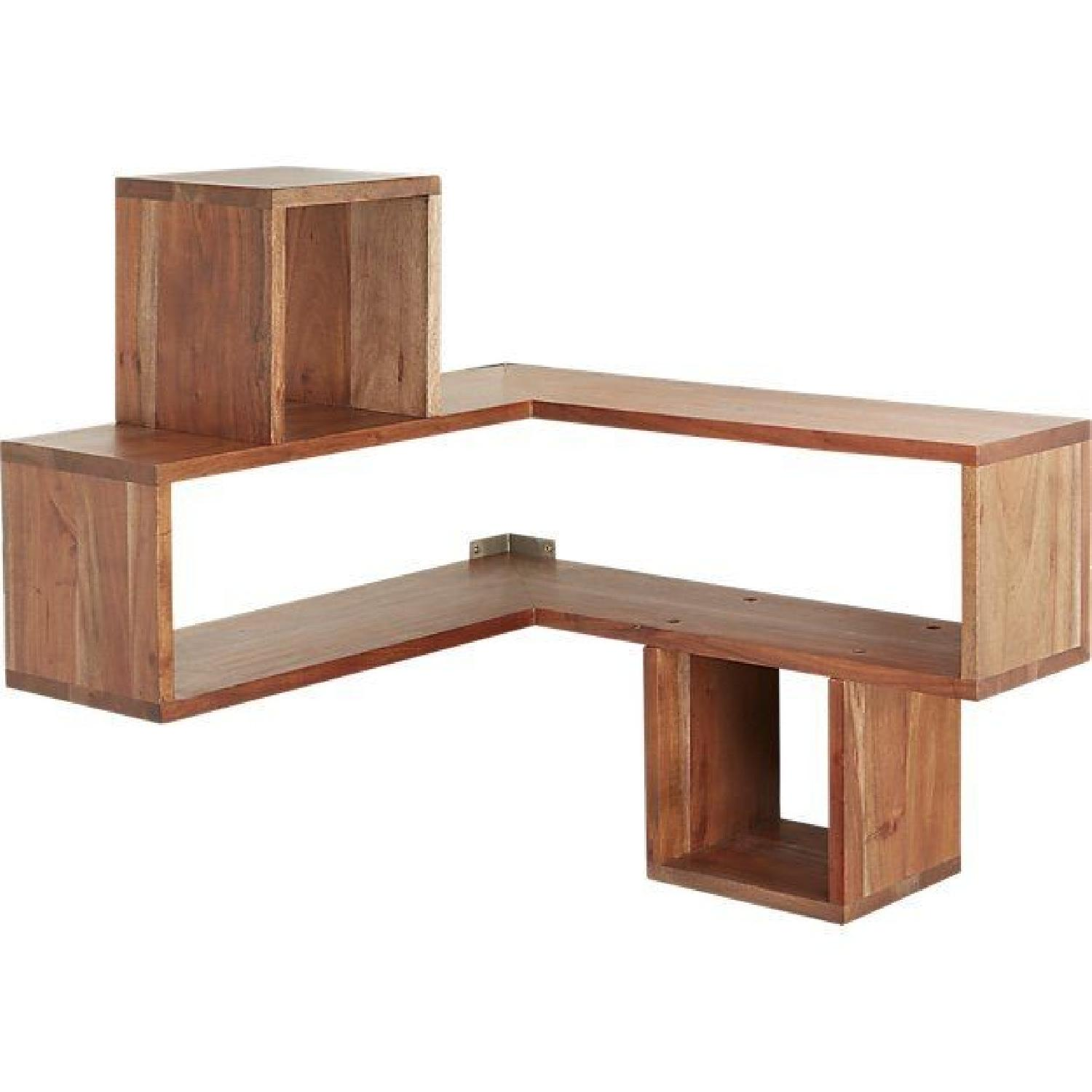 CB2 Corner Block Wall Shelf