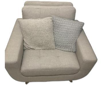 All Modern Beige Clementina Arm Chair