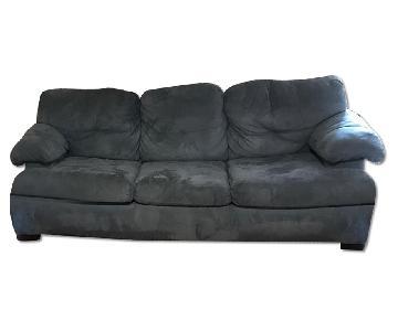 Blue Fabric Sofa + Loveseat + Chair