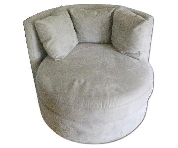 Pottery Barn Swivel Lounge Chair