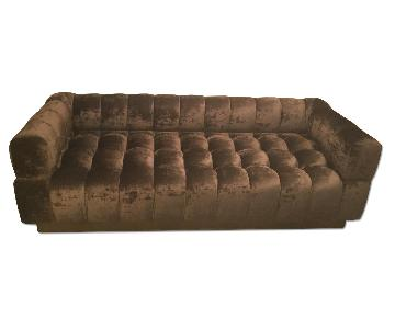 Adesso Home Velvet Custom Sofa