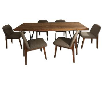 CB2 Dylan Dining Table w/ 6 Episode Chairs