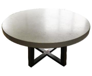 Custom Concrete Top Dining Table