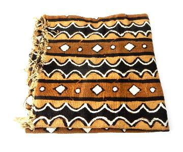 Superb African Bogolan Mali Mud Cloth Textile