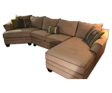 Raymour & Flanigan Forest Hill 3-Piece Microfiber Sectional Sofa