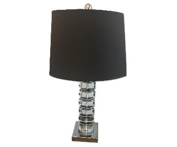 Pier 1 Glass Table Lamp w/ Shade
