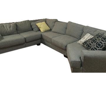 Jennifer Convertibles Aubrey 4 Piece Sectional Sofa