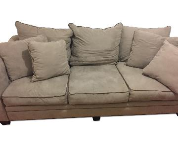Raymour & Flanigan Briarwood Microfiber 3 Seater Sofa + Oversized Chair