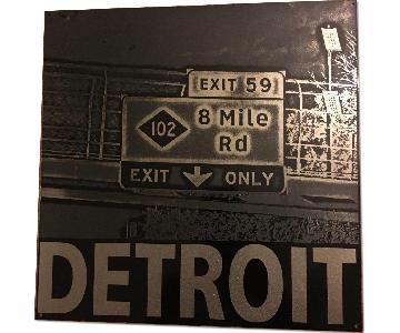 Metal Detroit Print