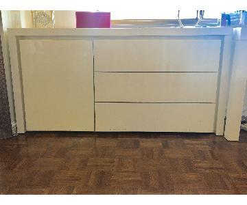 Modani White Lacquer Dressers