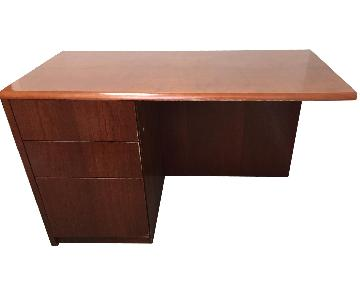 Dark Cherry Wood Desk