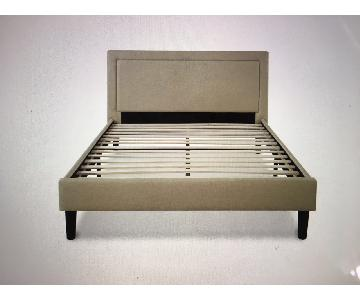 Platform Queen Bed w/ Wooden Slats