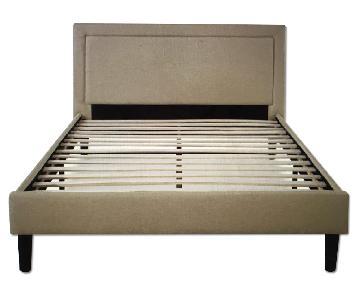 Platform Queen Bed w/ Wooden Slats