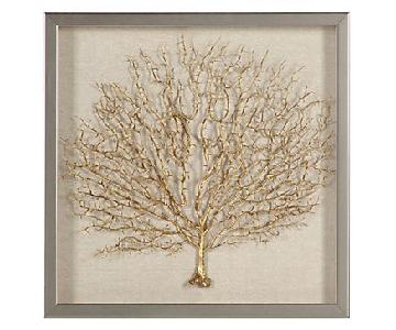 Z Gallerie Golden Sea Fan Shadowbox