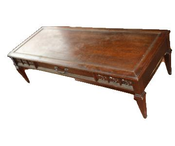 Boho Vintage French Style Long Coffee Table