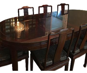 Dining Table w 8 Chairs + China Cabinet
