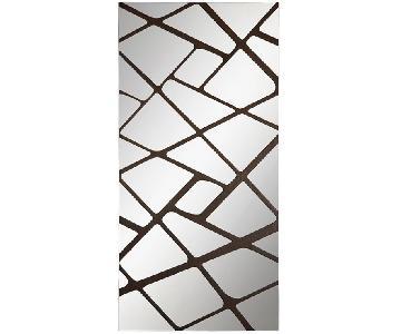 Modena Mirror w/ Wood/Mirror Frame in Brown/Glass