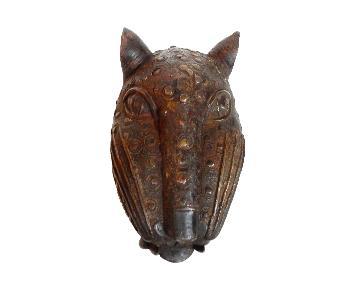 LG Benin Bronze Leopard Head
