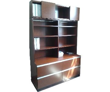 Knoll Office Cabinet w/ Shelving Unit & Additional Storage