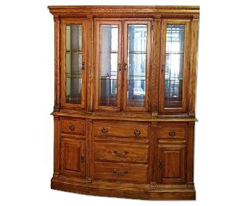 Solid Hardwood China Cabinet