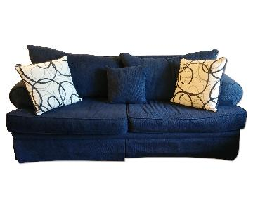 Bob's Blue Sofa + Loveseat