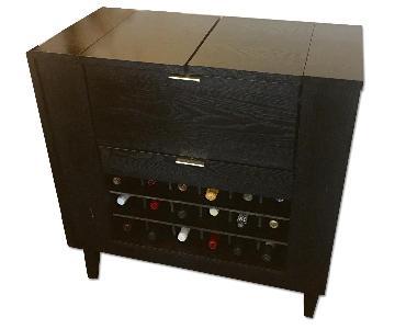 Crate & Barrel Parker Spirits Ebony Bar
