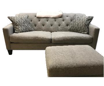 Raymour & Flanigan Matching Sofa & Ottoman