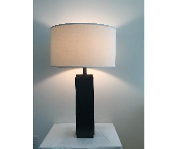 Restoration Hardware Square Column Table Lamp
