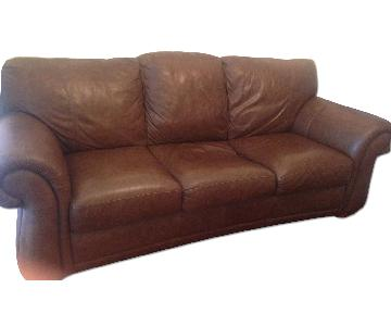 Raymour & Flanigan Leather 3 Seater Sofa