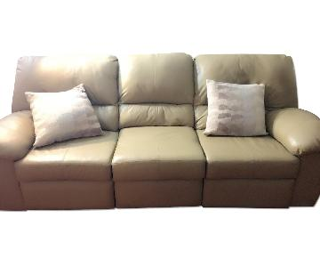 Macy's Leather 3 Seater Sofa