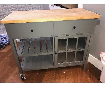 Windham Wood Top Kitchen Island