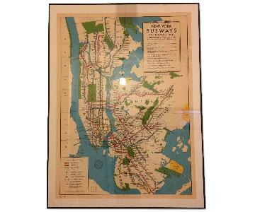 Historical New York Subway Map Print