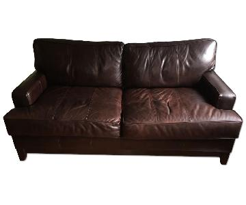 Ethan Allen Hudson Leather Sofa