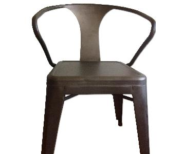 Industrial Style Metal Stackable Chairs