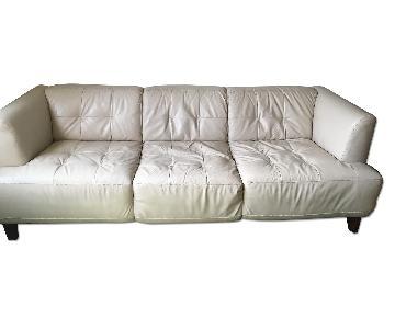 Macy's Alesia Leather Sofa