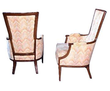 Decorator Flame Stitch Lounge Chairs