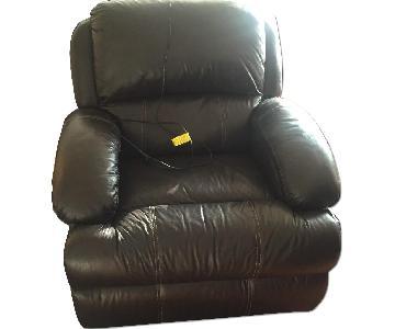 Bob's Leather Power-Reclining Sofa
