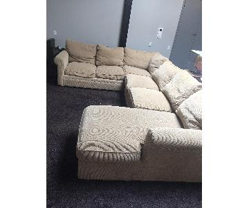 Crate & Barrel 3 Piece Sleeper Sectional Sofa