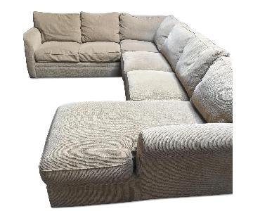 Crate & Barrel 3 Piece Sleeper Sectional Sofa