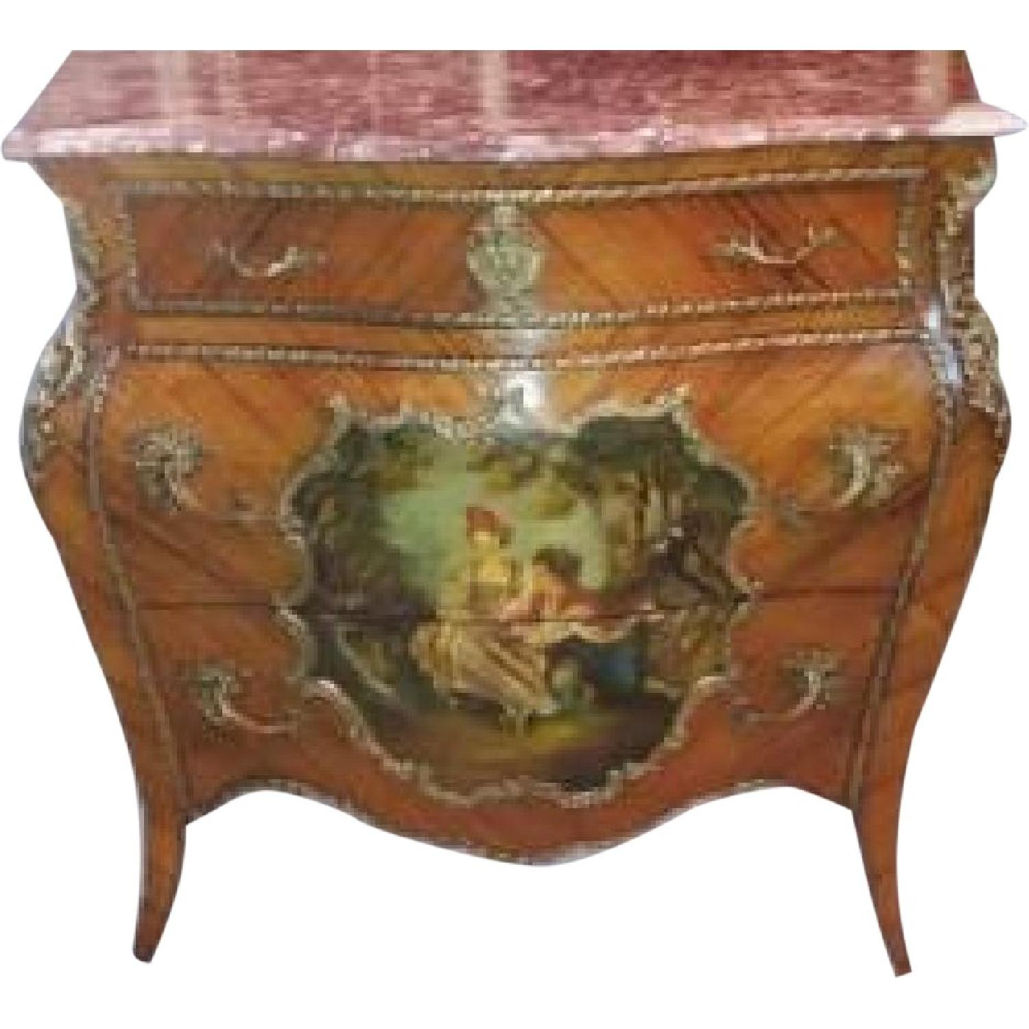 Antique 1880 French Louis XVI Commode/Chest of Drawers - image-0