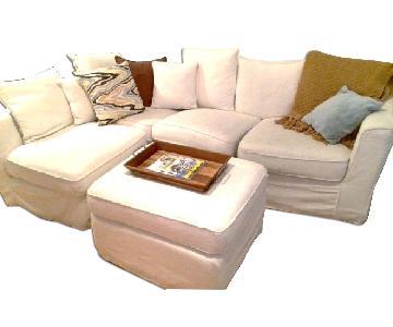 Jennifer Convertibles Ivory Sectional Sofa
