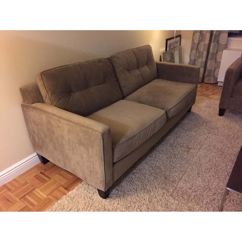 Raymour And Flanigan Microfiber Sofa