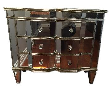 Neiman Marcus Horchow Mirrored 3 Drawer Chests - Pair